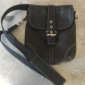 Coach Black Leather Crossbody Bag Purse
